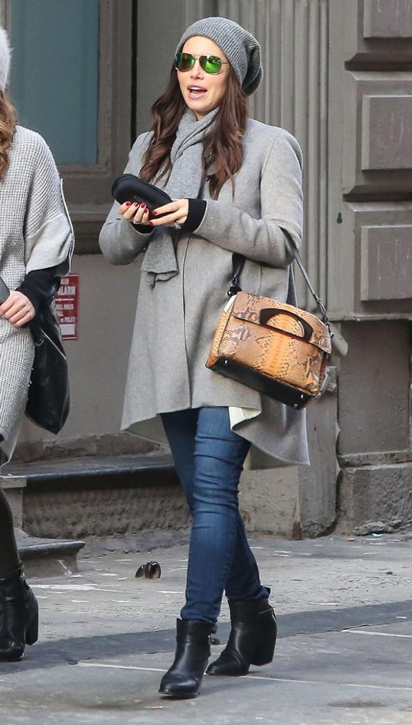Jessica Biel à New-York le 16 décembre 2014
