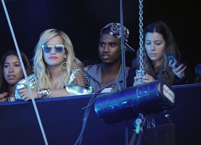 Rita Ora et Jessica Biel au Yahoo ! Wireless Festival de Londres le 12 juillet 2013