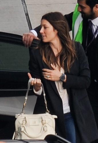 Jessica Biel à Londres le 27 mars 2014