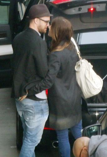 Justin Timberlake et Jessica Biel à Londres le 27 mars 2014