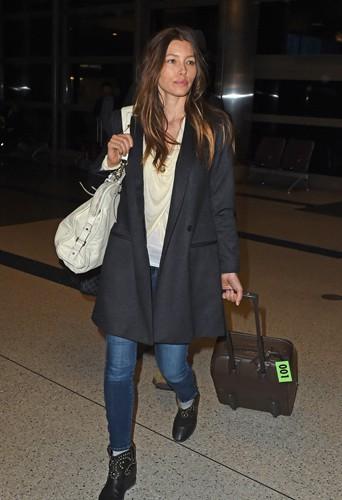 Jessica Biel à Los Angeles le 26 mars 2014