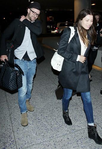 Justin Timberlake et Jessica Biel à Los Angeles le 26 mars 2014