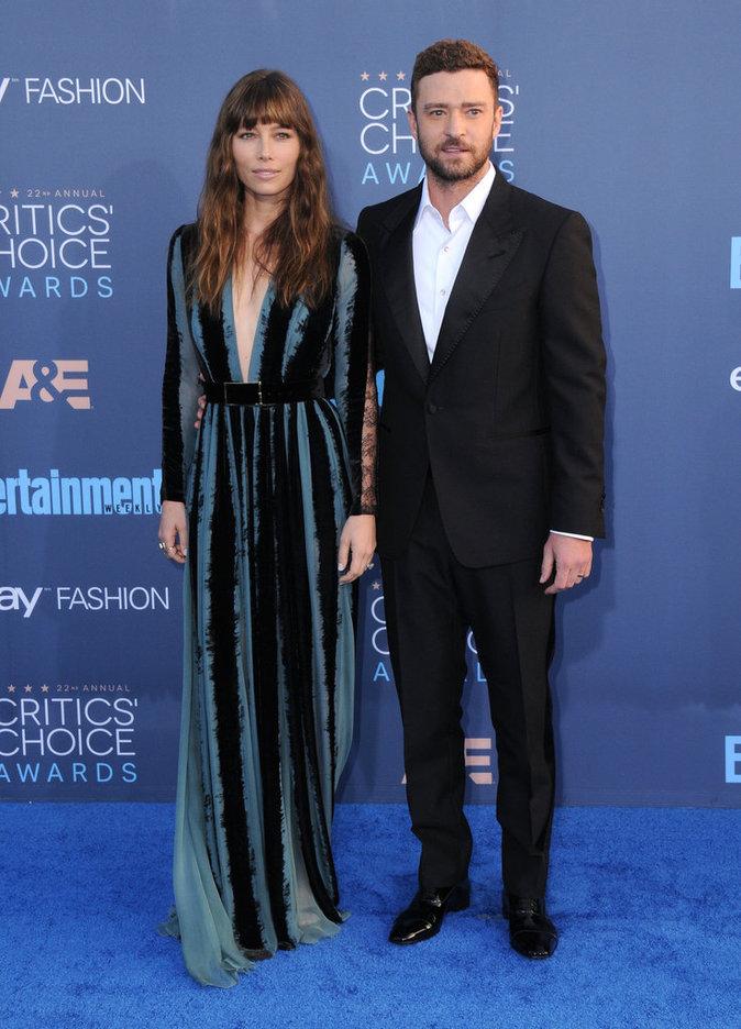 Jessica Biel et Justin Timberlake : ils donnent le ton aux Critics Choice Awards 2016 !