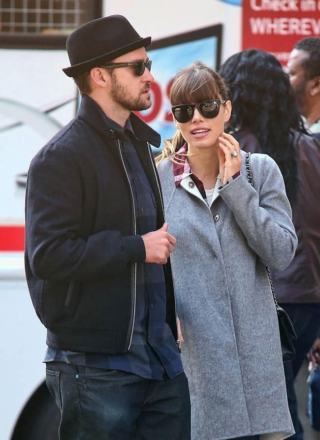 Justin Timberlake et Jessica Biel le 11 novembre 2012 à New York