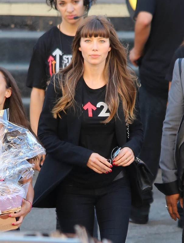 Jessica Biel et Justin Timberlake mobilisés pour Stand Up For Cancer à Los Angeles le 7 septembre 2012