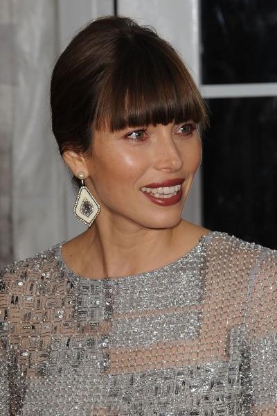 """Jessica Biel lors de la première du film """"Hitchcock"""" à New York, le 18 novembre 2012."""