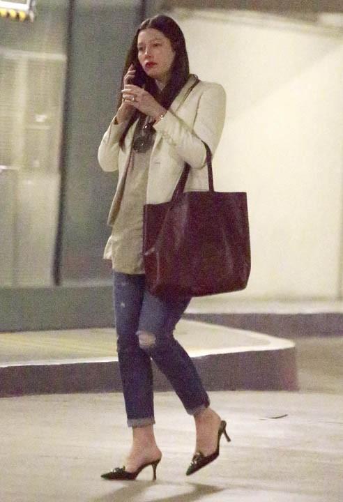 Jessica Biel à Studio City le 5 février 2015