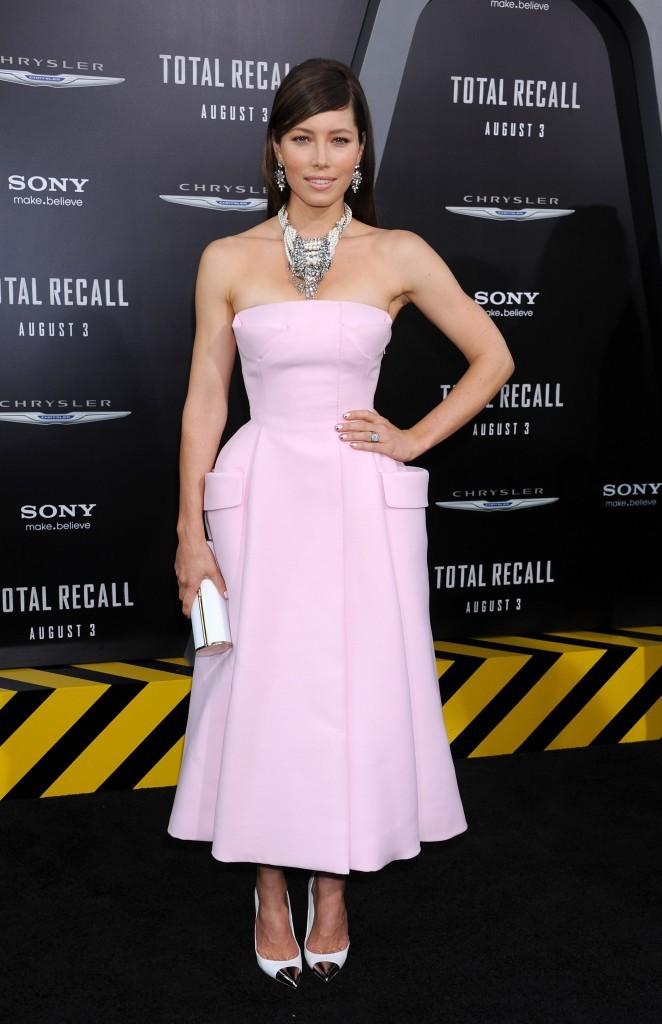 Jessica Biel, Première de Total Recall, Los Angeles, 1er aout 2012