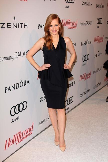 """Jessica Chastain lors de la soirée """"The Hollywood Reporter Nominees Night 2013"""", le 4 février 2013 à Los Angeles."""