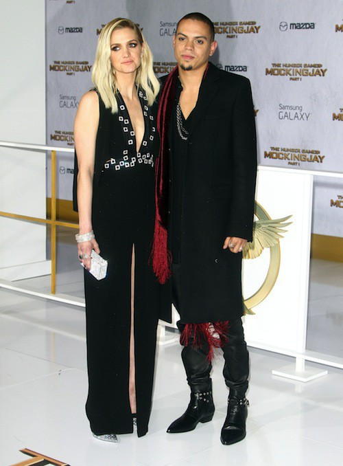 Ashlee Simpson et Evan Ross à la première de Hunger Games à Los Angeles, le 17 novembre 2014