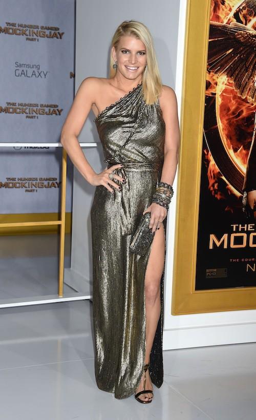 Jessica Simpson à la première de Hunger Games à Los Angeles, le 17 novembre 2014