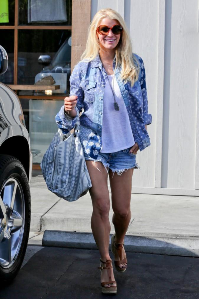 Jessica Simpson à Malibu, le 23 mars 2014.