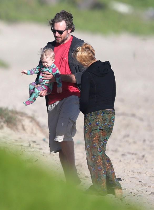 Jessica Simpson en famille à Hawaï, le 6 janvier 2013.