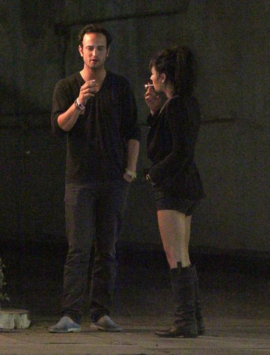 Jessica Szohr de sortie dans un club d'Hollywood le 3 octobre 2012