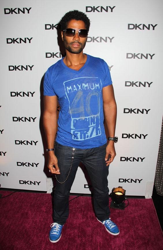 Eric Benet lors de la soirée de lancement de la nouvelle collection de lunettes DKNY à New York, le 26 juillet 2011.