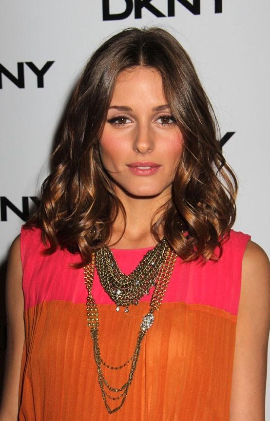 Olivia Palermo lors de la soirée de lancement de la nouvelle collection de lunettes DKNY à New York, le 26 juillet 2011.