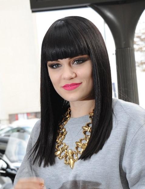 Jessie J se rendant à la brasserie Café Kléber à Paris, le 22 septembre 2011.