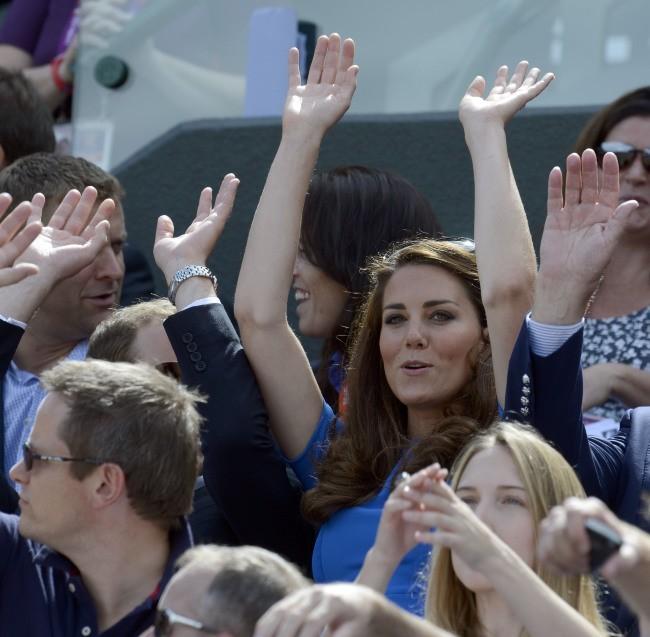 Kate Middleton à Wimbledon lors des Jeux Olympiques de Londres, le 2 août 2012.