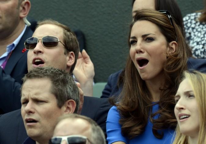 Kate Middleton et le prince William à Wimbledon lors des Jeux Olympiques de Londres, le 2 août 2012.