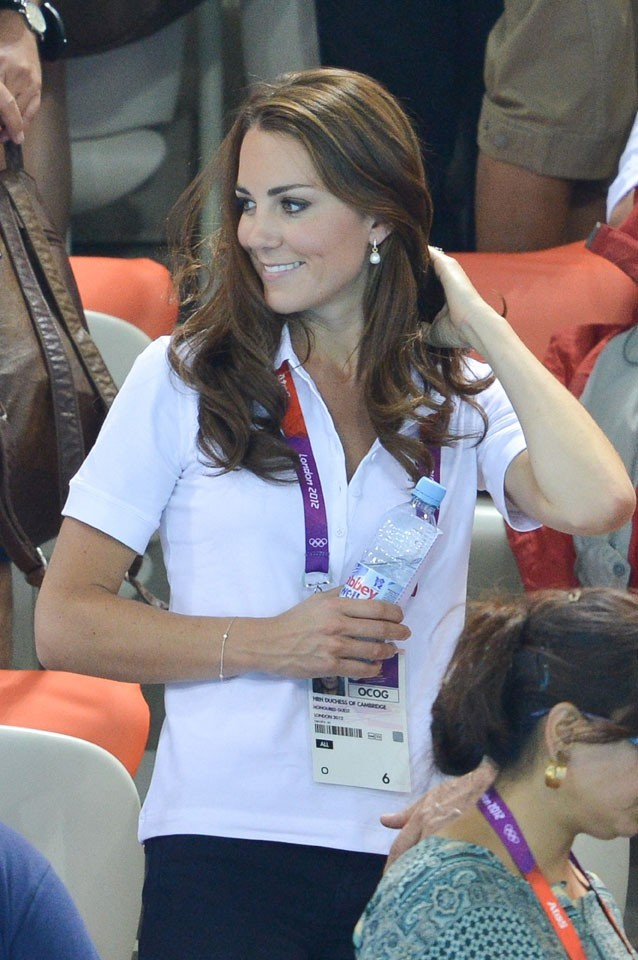 Kate Middleton à l'aquatics center de Londres le 9 août 2012