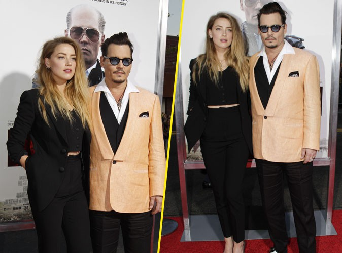 Johnny Depp et Amber Heard le 15 septembre 2015