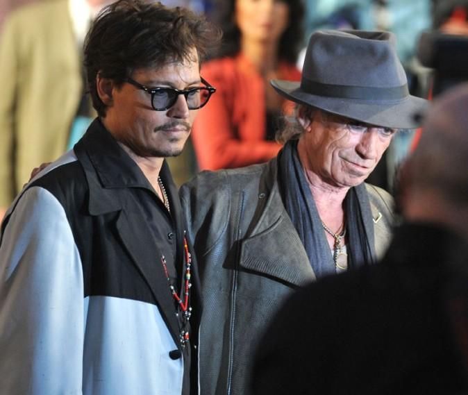 Johnny avec Keith Richards !