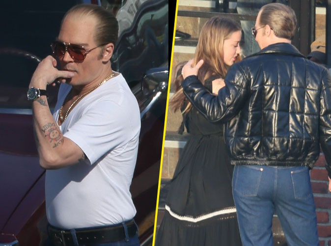 Johnny Depp : pause tendresse avec Amber Heard sur le tournage de son nouveau film !