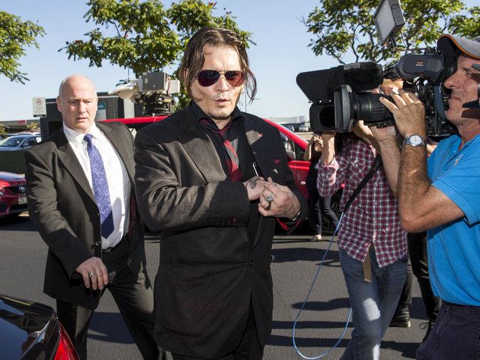 Amber heard et Johnny Depp au Tribunal de Southport ce18 avril 2016