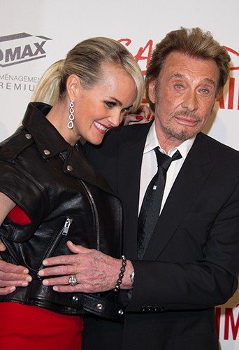 Johnny et Laeticia Hallyday à Paris le 31 mars 2014