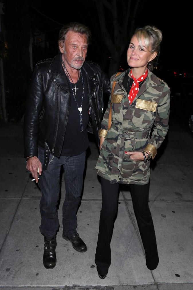Johnny et Laeticia Hallyday le 8 avril 2015