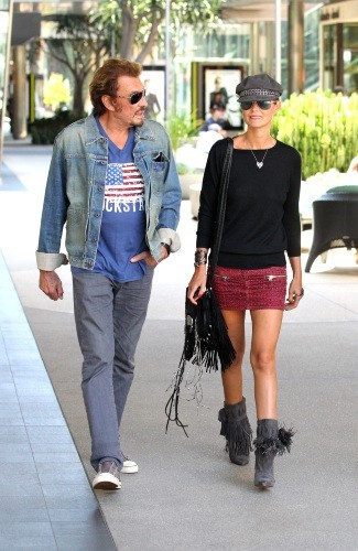 Laeticia et Johnny Hallyday, Los Angeles, 13 septembre 2012.