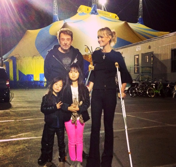 Les Hallyday au Cirque du Soleil … Bye bye Georges ?