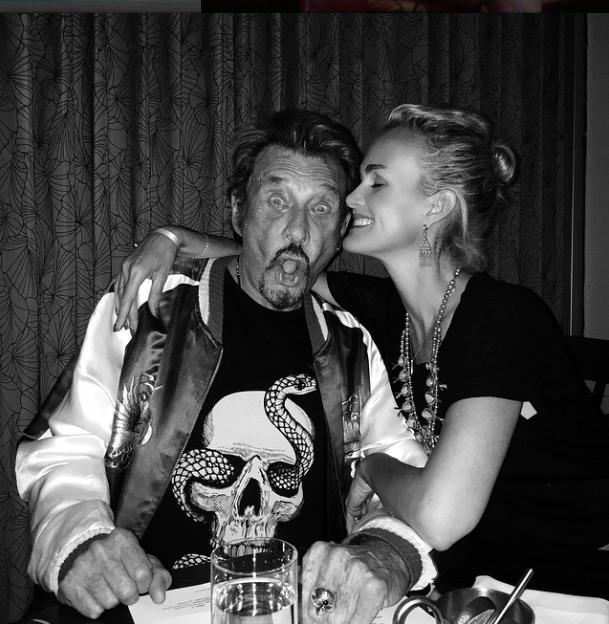 Johnny Hallyday et Laeticia Hallyday le 20 mai 2015
