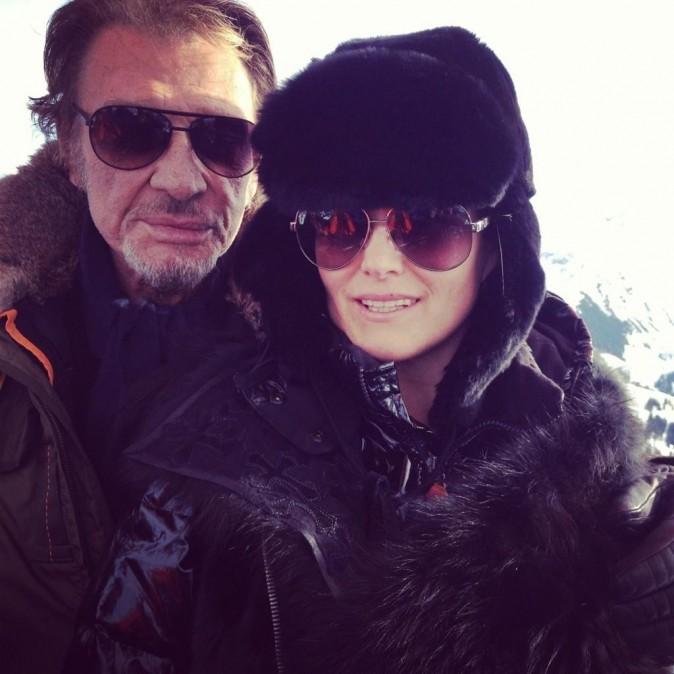 Johnny et Laeticia en balade en montgolfière le 6 janvier 2013.