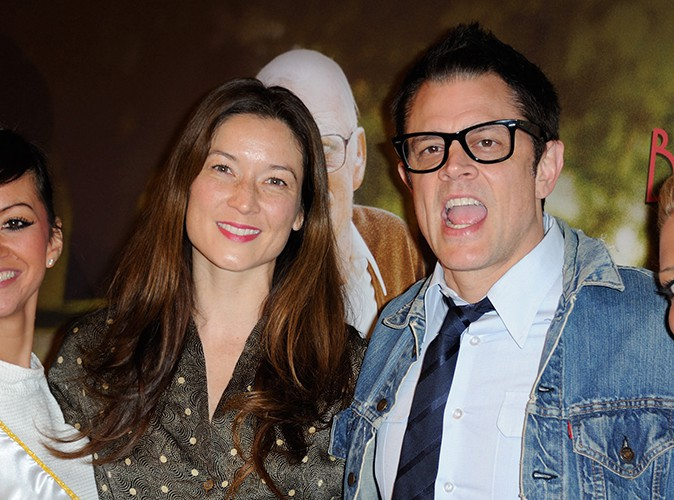 Johnny Knoxville et sa femme Naomi Nelson à Paris le 3 décembre 2013