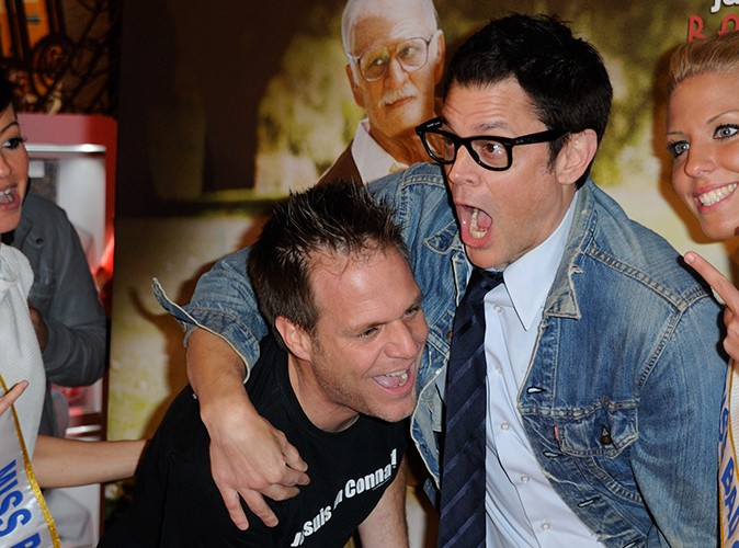 Rémi Gaillard et Johnny Knoxville à Paris le 3 décembre 2013