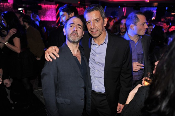 Bruno Solo et Michel Cymes lors de l'after-party du film La Vérité Si Je Mens 3 à L'Arc à Paris, le 30 janvier 2012.
