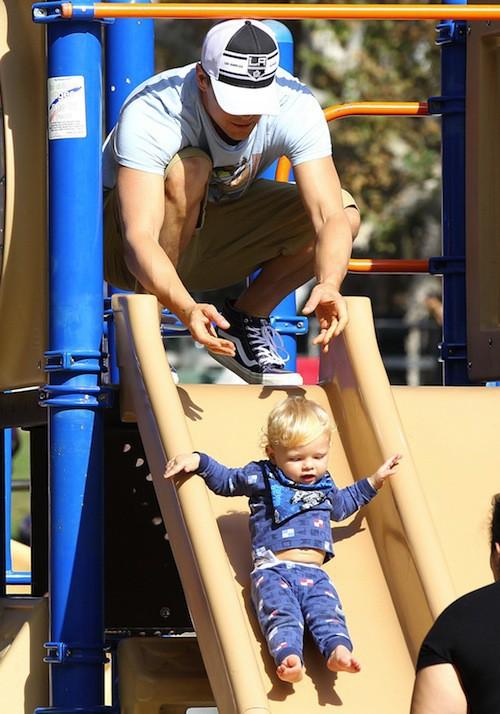 Photos : Josh Duhamel et Axl Jack : les hommes de Fergie se la coulent douce !