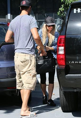 Josh Duhamel et Fergie à Los Angeles le 13 juillet 2014