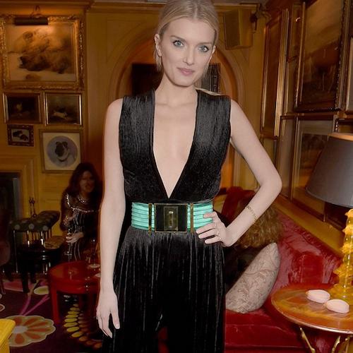 Lily Donaldson au dîner Balmain à Londres, le 16 mars 2015 !
