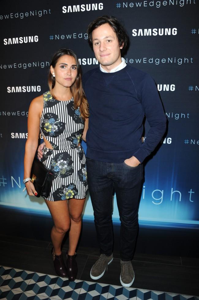 """Joyce Jonathan et Vianney à la soirée """"New Edge Night"""" organisée à Paris le 15 septembre 2015"""