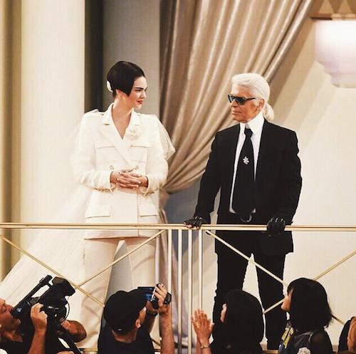 Chouchou de Karl Lagerfeld qui en a fait sa mariée