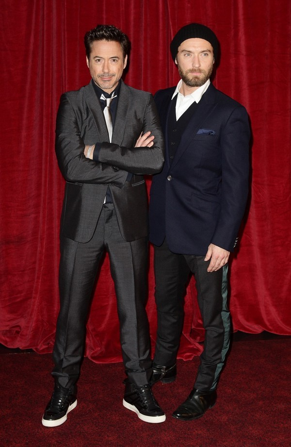 Avec son acolyte Robert Downey Jr !