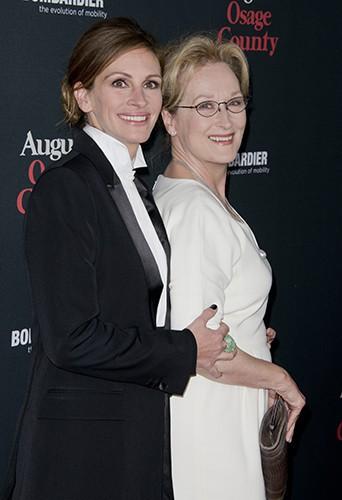 Julia Roberts et Meryl Streep à Los Angeles le 16 décembre 2013