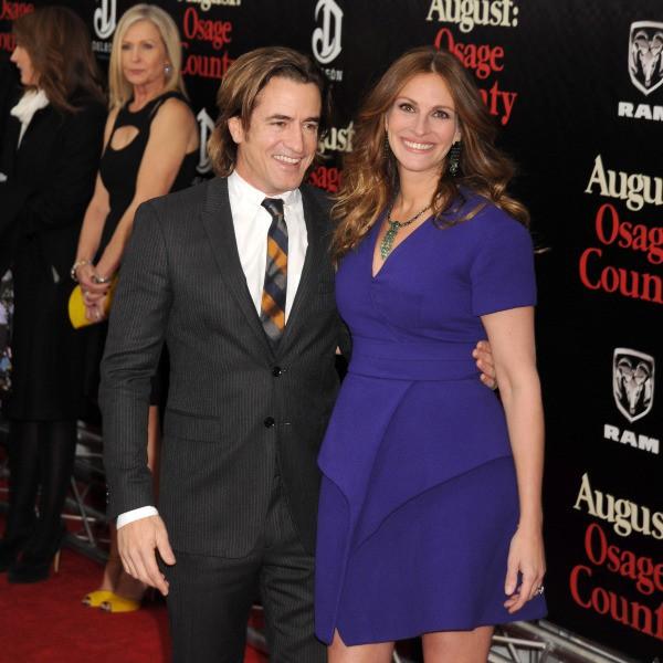 """Julia Roberts et Dermot Mulroney lors de la première du film """"August : Osage County"""" à New York, le 12 décembre 2013."""