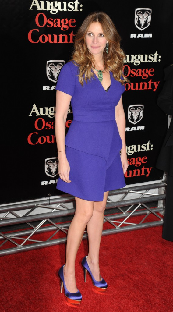 """Julia Roberts lors de la première du film """"August : Osage County"""" à New York, le 12 décembre 2013."""