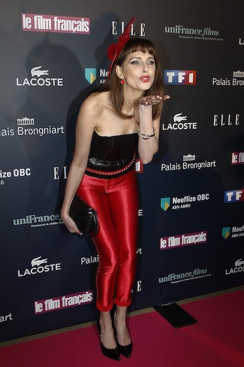 Julie Gayet aux Trophées du Film Français à Paris, le 12 février 2015