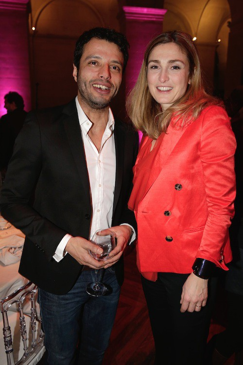 Mabrouk El Mechri et Julie Gayet aux Trophées du Film Français à Paris, le 12 février 2015