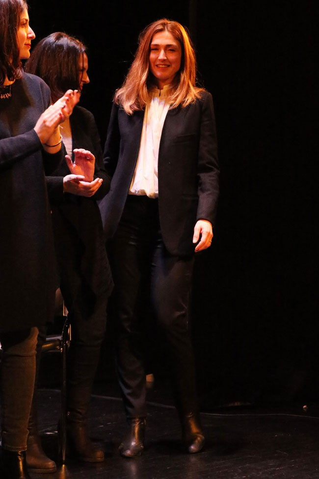 Julie Gayet à New-York le 8 mars 2014