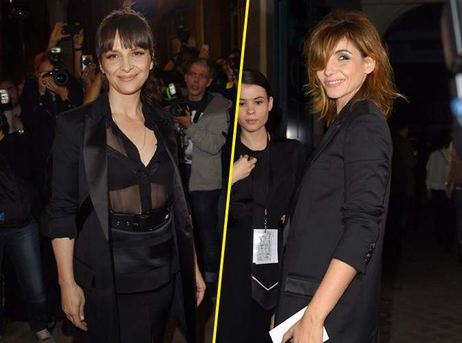 Juliette Binoche et Clotilde Courau au défilé Givenchy lors de la Fashion Week printemps-été 2015 à Paris, le 28 septembre 2014